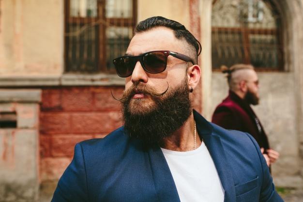 Full Beard Styled Moustache