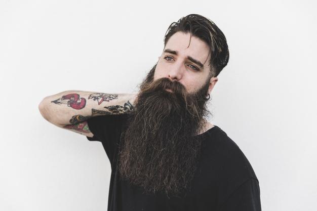 Natural Full Beard<br> (Over 12 cm )
