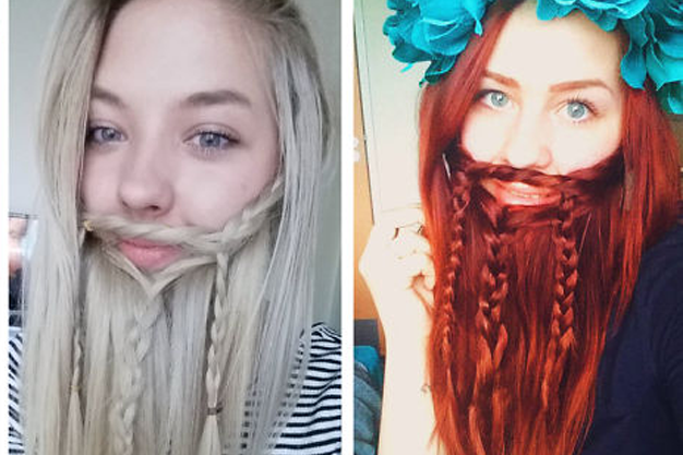 Ladies Creative Fake Beard